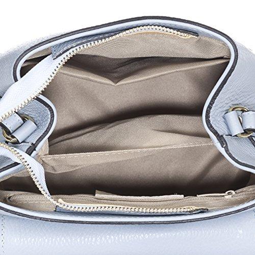 Laura Saffiano Sky en Moretti zip avec sac cuir PgP7vw