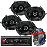 Package Kenwood KDC-118 In-Dash CD/AM/FM w/ Front Aux Car Stereo Receiver + ...