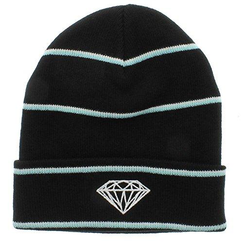 Diamond Supply I Skate Therefore I Am Black and Green Beanie Skullie Skater