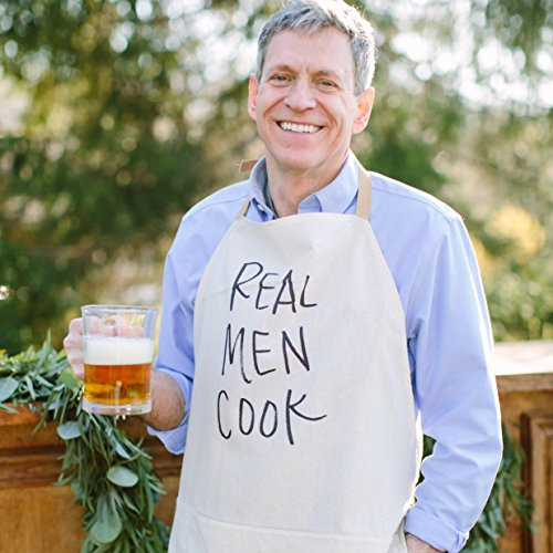 Classic Grilling Apron - Apron, Real Men Cook, Handmade in the USA, present, grilling apron, menswear, housewarming gift, kitchen decor