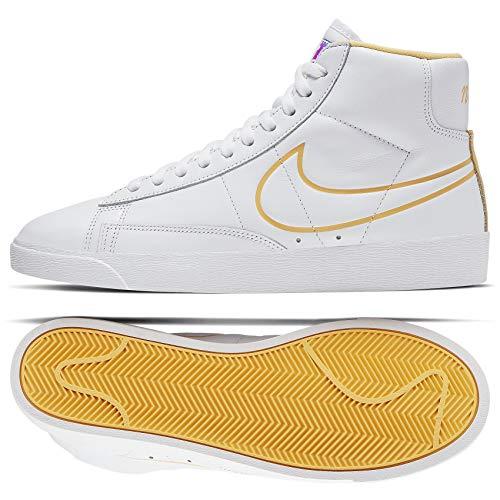 - Nike WMNS Blazer Mid CJ3643-100 White/Topaz Gold/Clear Leather Women's Shoes (8.5)
