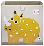 3 Sprouts Storage Box, Rhino, Yellow