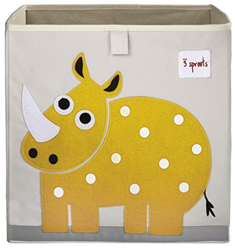3 Sprouts Storage Box, Rhino, Yellow (Rhino Yellow)