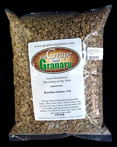Brazilian Santos unroasted Coffee Beans (5LB)