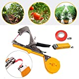 Gohunter Tying Machine Tapetool Tapener for Plant and Garden Plant with 20 Rolls Tape Set for Agriculture Vegetable, Grape, Tomato,Cucumber, Pepper and Flower