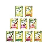 True Lemon Super Pack (90 single serve packets) 10 each Strawberry Lemonade, Wildberry Lemonade, Limeade, Watermelon Aqua Fresca, Black Cherry Limeade, Orange Mango, Peach Lemonade, Original Lemonade and Raspberry Lemonade