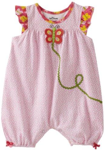 my O baby Baby-Girls Newborn Dot Romper Dress