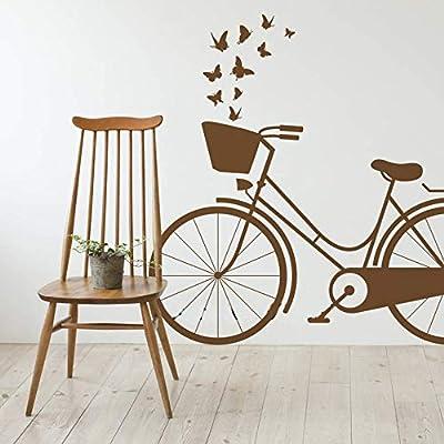 pegatina de pared frases Retro Vintage bicicleta color puro ...