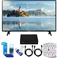 "LG 43LJ5000 43"" Full HD 1080p LED TV (2017 Model) Plus Terk Cut-the-Cord HD Digital TV Tuner and Recorder 16GB Hook-Up Bundle"