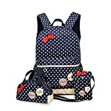 Best Donalworld Messenger Bags - Donalworld Kids Polka Dot Book Bag Fabric School Review