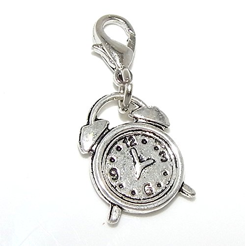 Dangling Silver Clock - Pro Jewelry Dangling