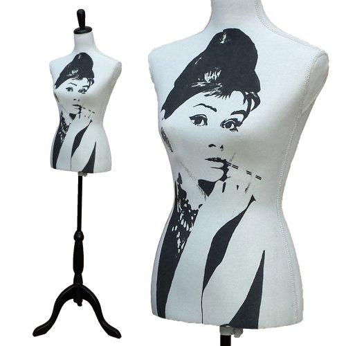 Schneiderpuppe Damen weiblich 36/38 Schneiderbüste Schaufensterpuppe Torso Puppe, Modell:Audrey Hepburn