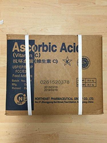 25 kg Vitamina C Ácido ascórbico E300, Calidad de los alimentos, fortalece Defensas: Amazon.es: Salud y cuidado personal