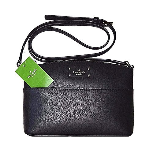 Kate Spade Striped Handbags - Kate Spade New York Grove Street Millie Leather Shoulder Handbag Purse (Black)