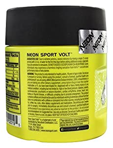 Neon Sport Volt Creatine Free Preworkout with Beta Alanine, 36 Count
