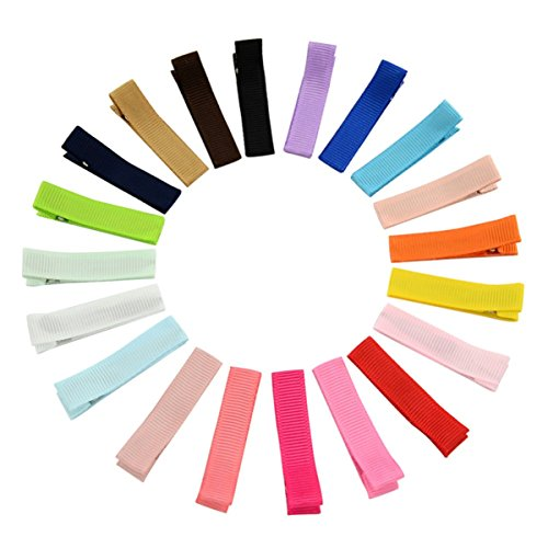 CellElection Baby Children Solid Color Ribbon Hair Bow Barrette Accessories for Girls Hair (Baby Crochet Clip)