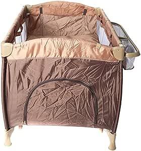 جولدن تويز سرير الاطفال المحمول للعب للاطفال - بني - DG-55114