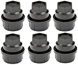 APDTY 7227182 Wheel Lug Nut Black Plastic Screw On Covers (Pack Of 6) Fits Numerous GM Trucks; Match Vehicle To Compatability Chart To Ensure Exact Fitment (Replaces 15646250)