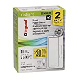 Legrand Radiant 2-Pack 2-Switch 600-Watt 3-Way Single Pole White Indoor Rocker Dimmers