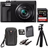 Panasonic DC-ZS70K Lumix 20.3MP, 4K Touch 3 LCD, 180 Degree Display, Panasonic Battery/charger Pack Bundle