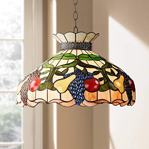 (Ripe Fruit 3-Light Tiffany Style Glass Pendant Light - Robert Louis)