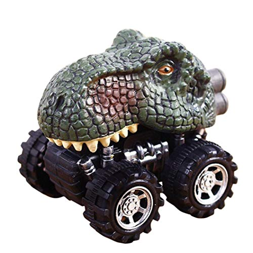 Dinosaur Model Mini Gift Toys Truck, Pull Back Cars Big Tire Wheel Vehicles Playset Funny Creative Birthday Christmas Party Race Car Toy Gift for Kids Toddlers (C)