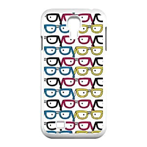 Samsung Galaxy S4 9500 Cell Phone Case White David & Goliath Nerd Glasses F0D7OQ