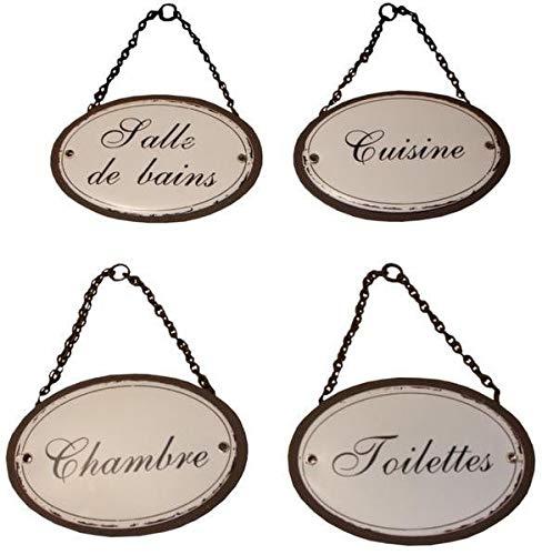 Antic line cr/éations Plaques de porte pour la maison Duchesse Lot de 4