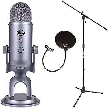 Mic Stand With Pop Filter : blue microphones yeti usb microphone with mic stand and pop filter for broadcasting ~ Hamham.info Haus und Dekorationen