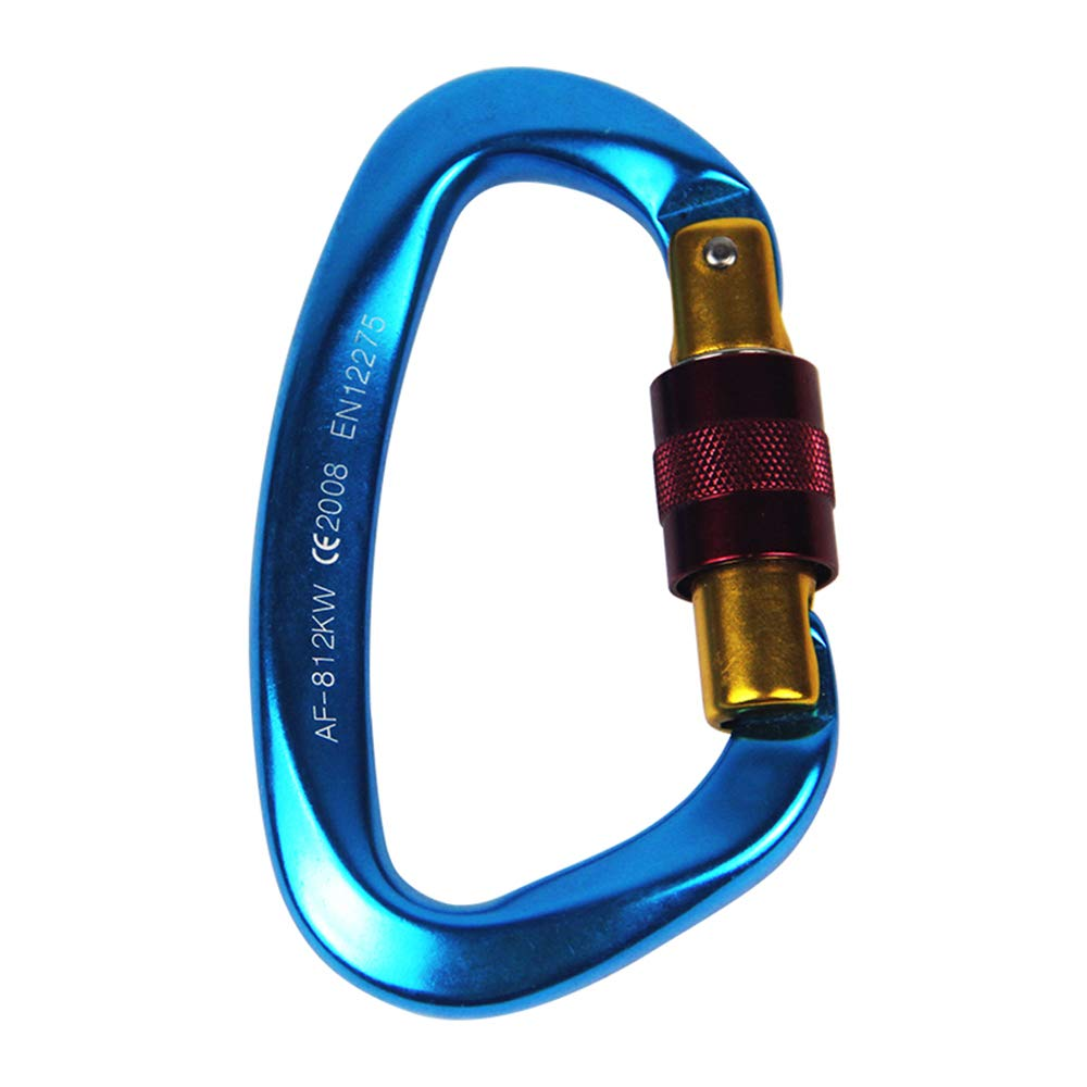 Fliyeong Climbing Carabiner D-Ring Carabiner Gear Lock Snap Clip Locking Screw Keychain Hook Spring-Loaded for Hiking Tools