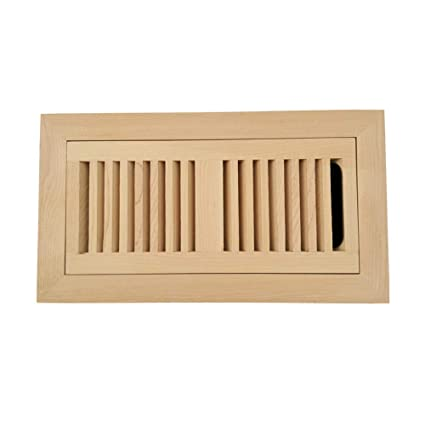 Homewell Maple Wood Floor Register Flush Mount Vent With Damper