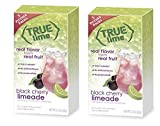 True Lime Black Cherry Limeade Drink Mix 5 Pitcher Packs Makes 10 Quarts (Pack of 2)