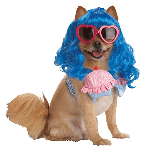 UHC Cupcake Girl Katy Perry Pop Star Fancy Dress Puppy Halloween Pet Dog Costume, XS