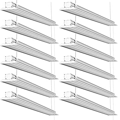 Sunco Lighting - ENERGY STAR, ETL - 4ft 40W LED LINKABLE Wraparound Shop Light, 4000lm 120W Equivalent, LED Fixture, Ceiling Light, Garage, (5000K - Daylight)