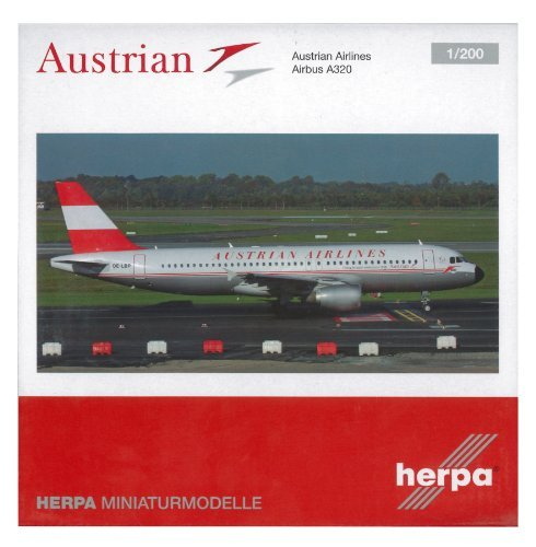 Helper 1/200 A320 Austrian Airlines 50th Anniversary retro color finished product