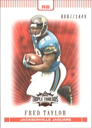 2007 Topps Triple Threads Football Card #51 Fred Taylor