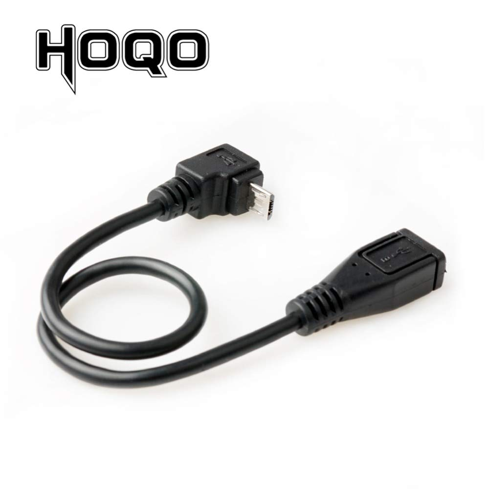 Cable Length: 25cm, Color: Black Computer Cables UP Angle 90 Degree Micro USB Extension Cable Panel Mount Sync Date Charge for Motherboard Micro-USB Male to Female Cord