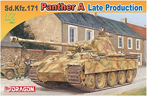 Dragon Models SD.KFZ.171 Panther A Late Production Model Kit (1/72 Scale) (Sd Kfz.171 Panther)