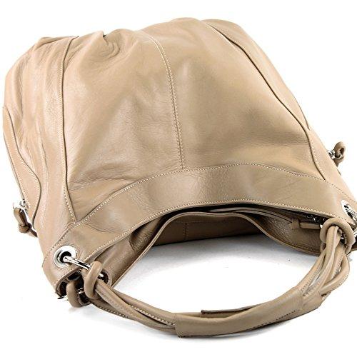 Beige Sac Made pour Italy porter l'épaule femme à à 8R7qR