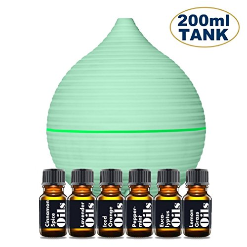 Essential Oil Diffuser Starter Kit – Includes Top 6 Essent
