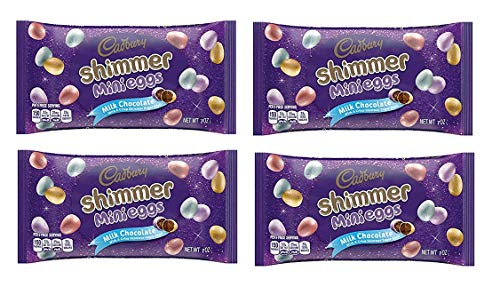 Cadbury Shimmer Mini Eggs, 7 oz - Milk Chocolate with a Crisp Shimmer Sugar Shell - Pack of 4