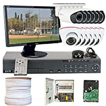 GW Security VD12CHH6 16 CH HD-SD DVR 12 x HD-SDI 1/3-Inch 1.3 Megapixel 720p ZeeAnn Progressive Scan CMOS Camera