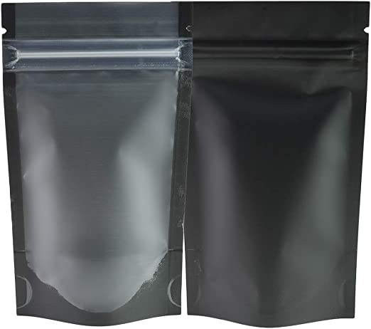 STAND UP POUCH TRANSPARENT//CLEAR  with ZIP LOCK//GRIP HEAT SEAL FOOD GRADE BAGS