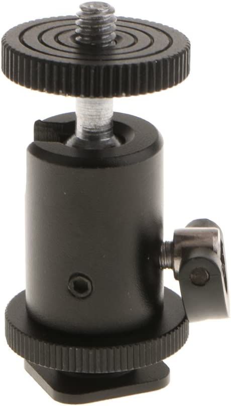 360/° Swivel Mini Ball Head Hot Shoe Adapter Mount for DSLR Camera Camcorder