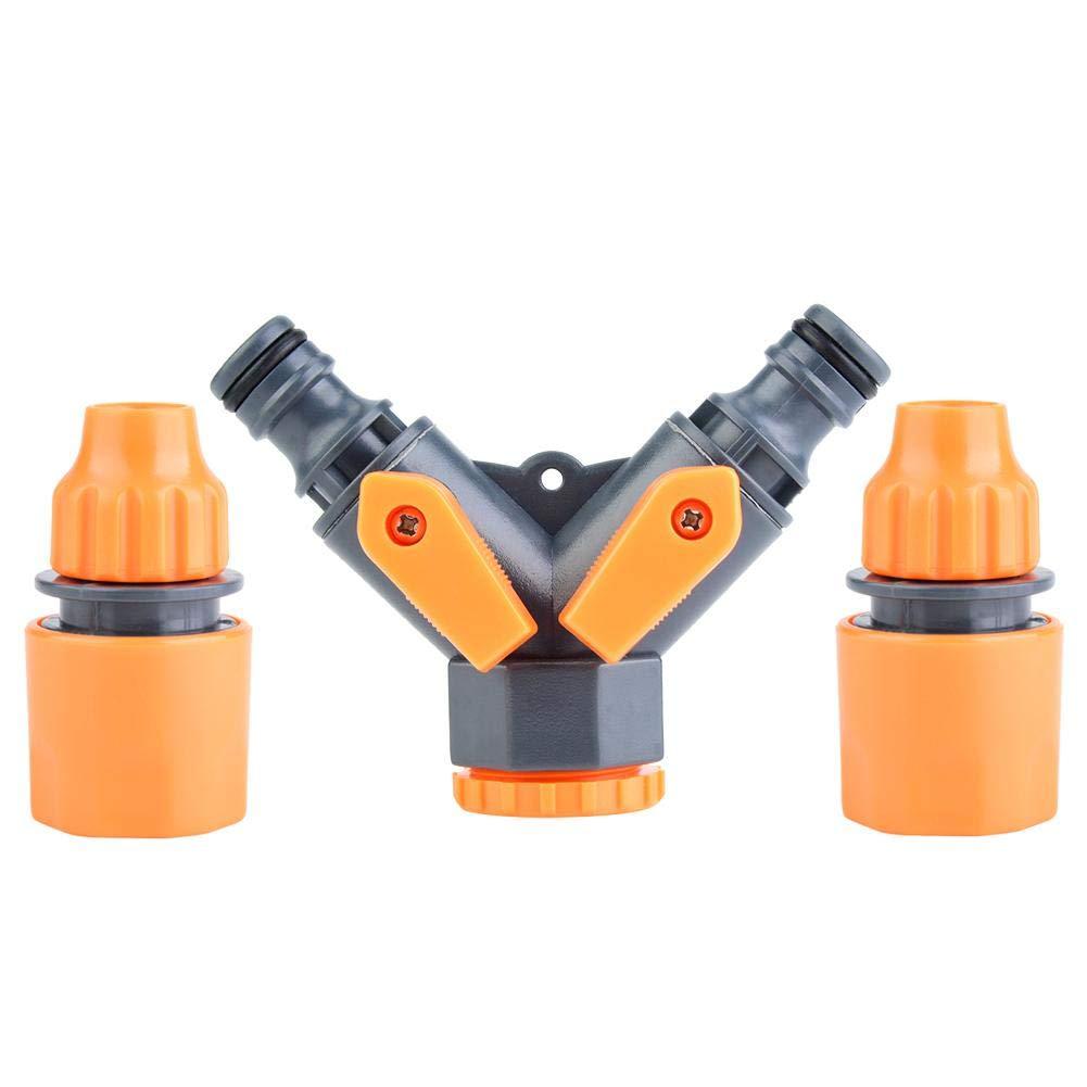 Jeffergrill 8-12mm Garden Y Shape Water Pipe Adapter Tap Hose Valve Splitter 2 Way Quick Connector