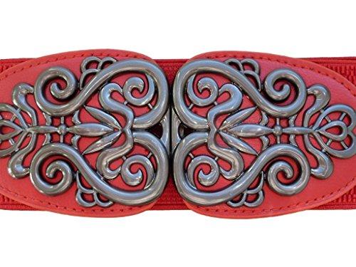 Décorée 38 Rot 44 Boutique Avec 3 Ceinture Jolie Boucle Extensible Unique YzZ6SqS
