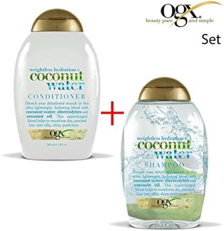 Shampoo & Conditioner: OGX Coconut Water