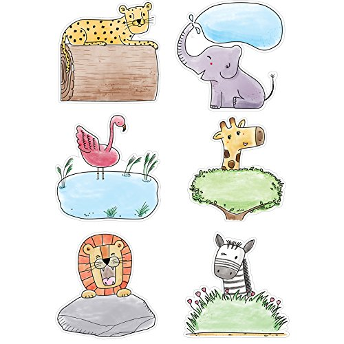 "Creative Teaching Press Cut-Outs 6"" Safari Friends Cut Outs, 6"" Ctp 3278 with"