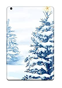 9943507I37303921 Tpu Case For Ipad Mini With Christmas Snow Trees