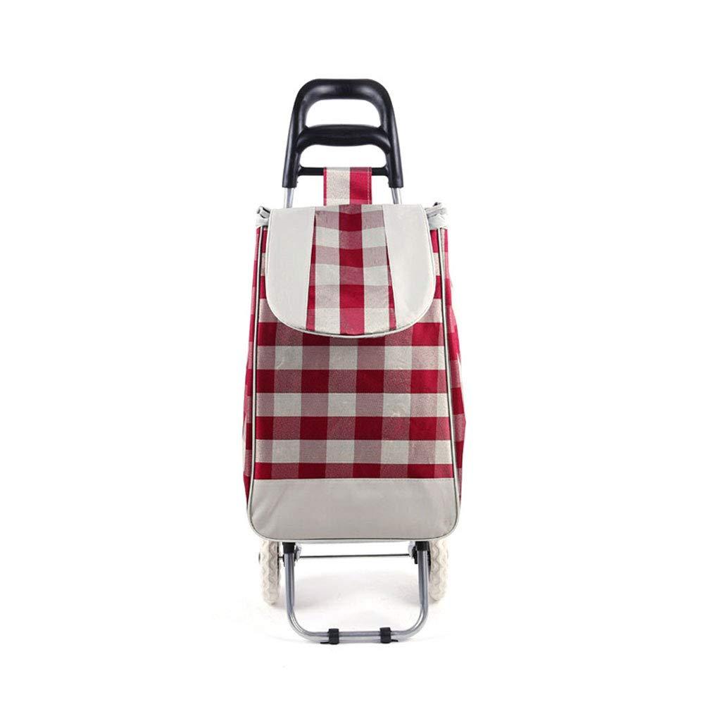 ショッピングカートショッピングトロリーショッピングバッグ食料品の折り畳み式カート荷物カート軽量トロリー市場ショッピングカート B07KFCCNT1